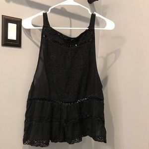 Free People Constant Crush Tank Black Medium